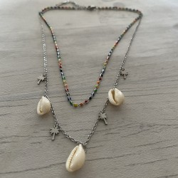 Collier  multirangs en acier