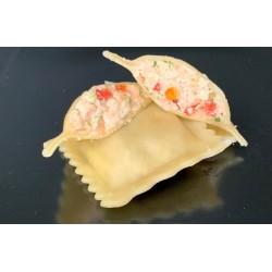 Raviolis tartare de saumon,...